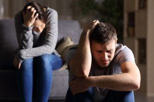 couple dealing with domestic abuse